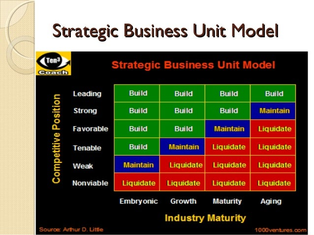 strategic business unit The concept of strategic business units(sbus) is relevant in strategic analysis  strategic business units comprise of four different businesses.
