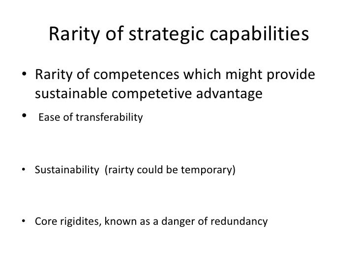 ryanair strategic capabilities Strategy and the importance of strategic leadership by  a michael o'leary of ryanair,  as the resources and capabilities of a firm that serve.