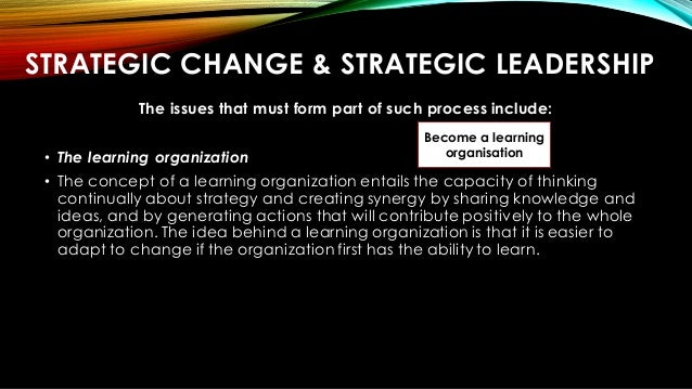 strategic change 7