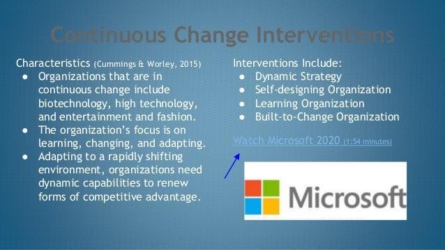 Strategic Change Interventions Team D Module 7