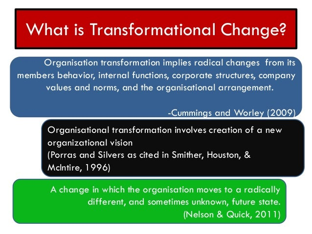 organizational culture and institutional transformation