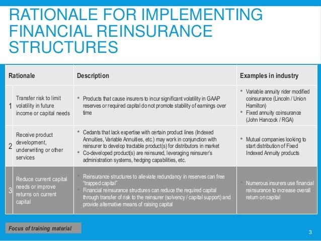 Strategic Considerations In Financial Reinsurance