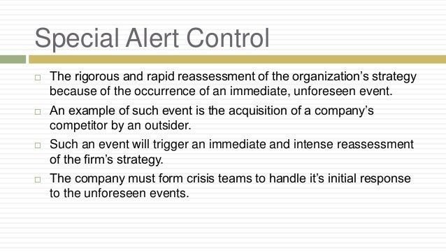 strategic control example
