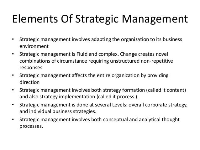Strategic & corporate management