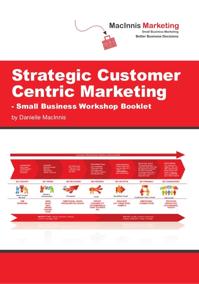 Strategic Customer Centric Marketing - Small Business Workshop Booklet by Danielle MacInnis Strategic Customer Centric Mar...