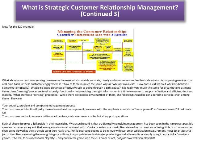 Strategic customer management (Part 1)