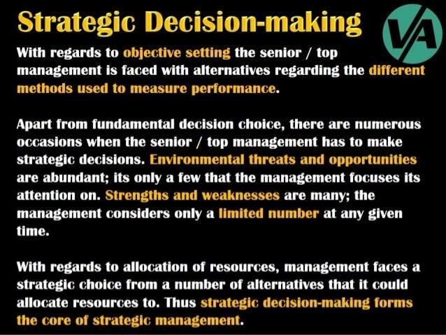 Strategic Decision-Making