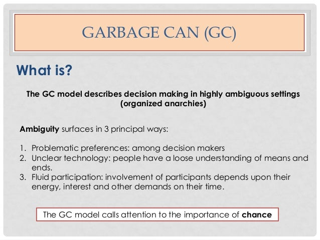 garbage can model example