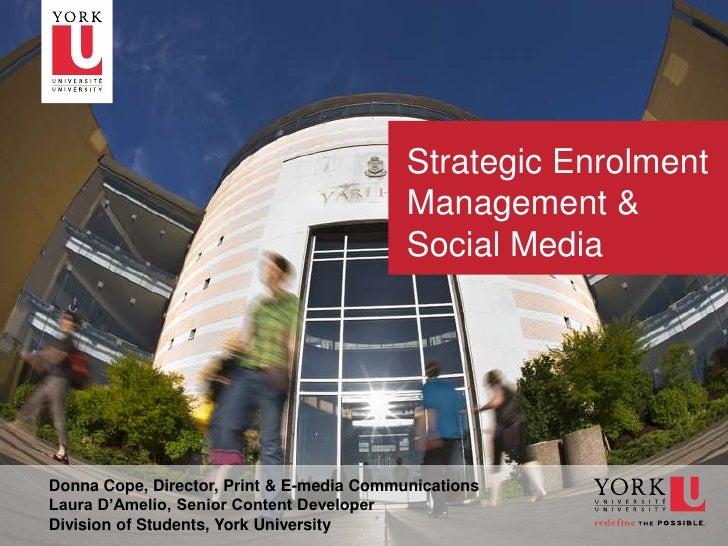 Strategic Enrolment                                               Management &                                            ...
