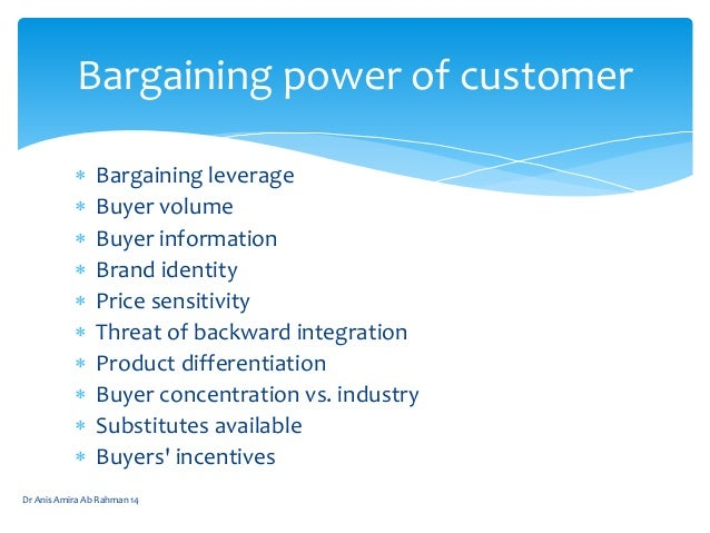 bargaining power of buyers essay Free essay: industry analysis bargaining power of buyers buyer power is moderate the buyers: buyers here comprise of individuals (business as well as.