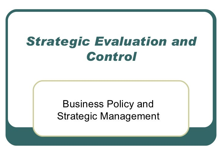 strategy evaluation and control ppt