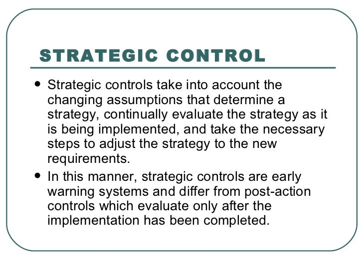 strategy review evaluation and control Contents clarifying the evaluation questions, 2 developing a logic model, 3 assessing readiness for evaluation, 7 selecting an evaluation design, 8.