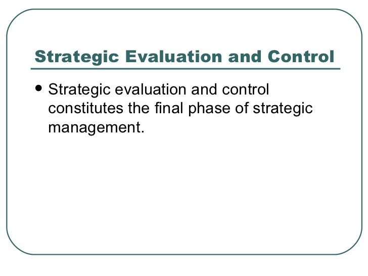 Evaluation of strategic management essay