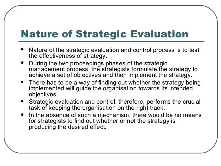 strategy evaluation Are your non-profit programs and grant investments achieving the goals that you've set strategic evaluation consulting will help your organization get the most impact from your programs and.