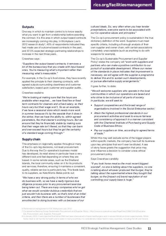 rics apc case study sample