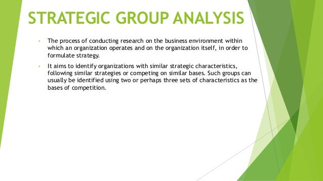 strategic group analysis of komatsu The goals of strategic group analysis vary depending on several strategic group characteristics, including the size of the market, the diversity of products offered, the geographical proximity of the competing companies, and where the products are sold.