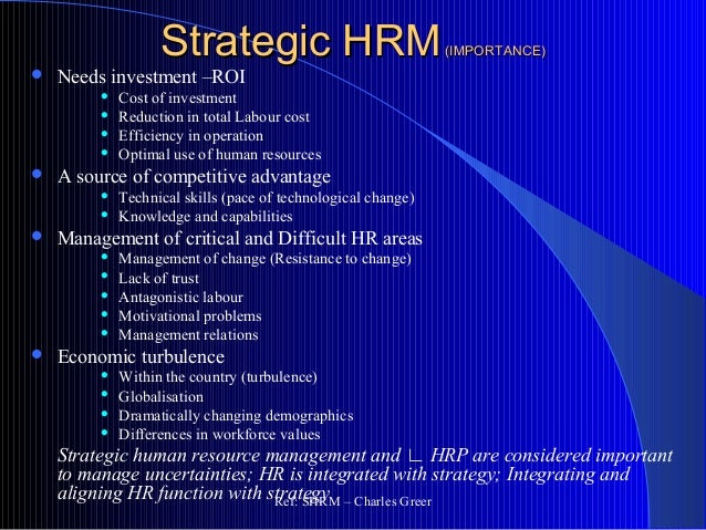 the strategic human resource management This module explores the different aspects of human resource management and helps you understand and influence decisions regarding the management of human resources within organisations.