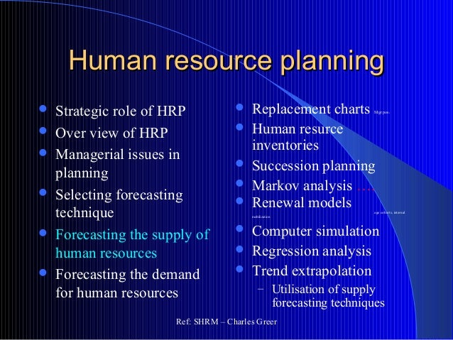 strategic human resource planning thesis The entire thesis text is included in the researchpdf file toward strategic human resource management in the central office pre-emptively planning.
