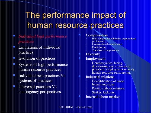 the effects of human resource on the decision making in the industrial sector The impact of information systems on the performance of human resources management with decision-making calculations that have effects on the.