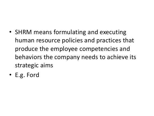 strategic human resource management and shrm