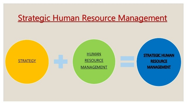 Strategic human resource management and strategic management process
