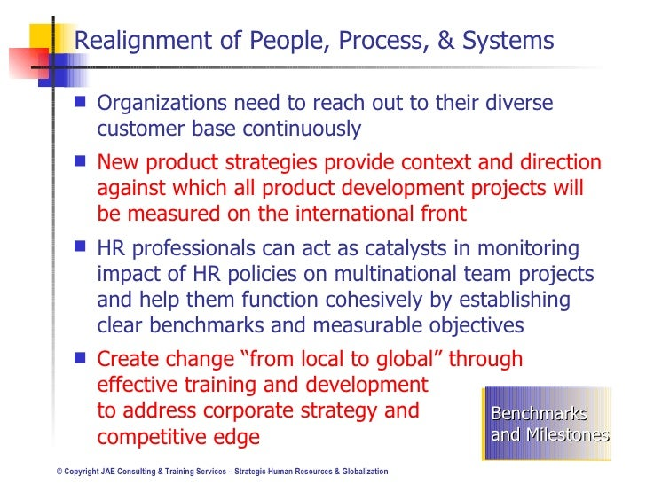 globalization and human resources Unwise to export us human resource (hr) practices to another country  thus,  globalization becomes a deliverable for hr practitioners to add value by.