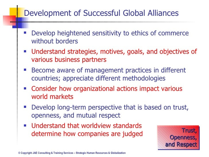 impact of globalization on human resource Globalization has a most important implication for human resource management practice in general for some, globalization creates pressures for taking best, a transferable set of hrm practices that can spread around the world.