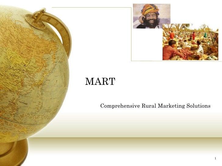 MART Comprehensive Rural Marketing Solutions
