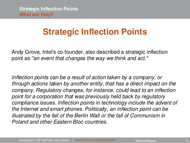 Strategic Inflection Points What are they? Strategic Inflection Points Andy Grove, Intel's co-founder, also described a st...