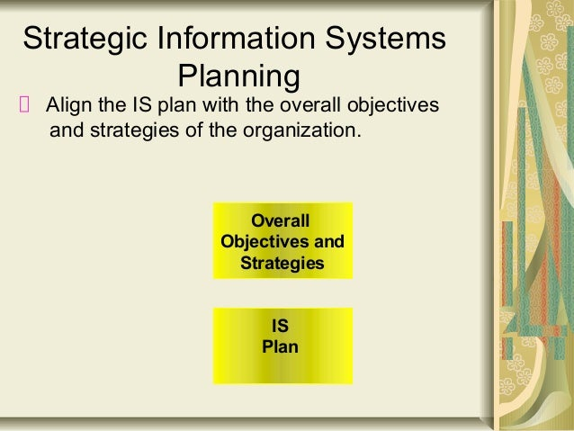 strategic information systems Effective information management is not easy this article outlines 10 critical success factors that address organisational, cultural and strategic issues.