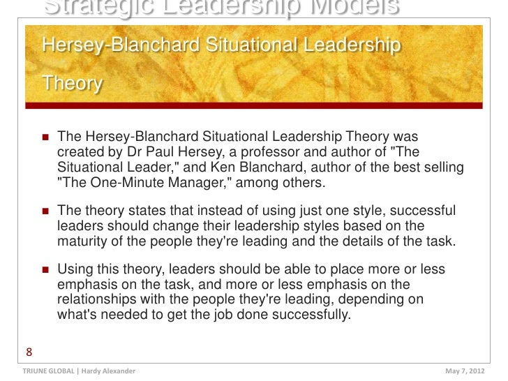 situational leadership applied to the dissertation process Dissertation and essay samples:leadership and thus here the role of situational leadership style must also get reverence into the change management process.