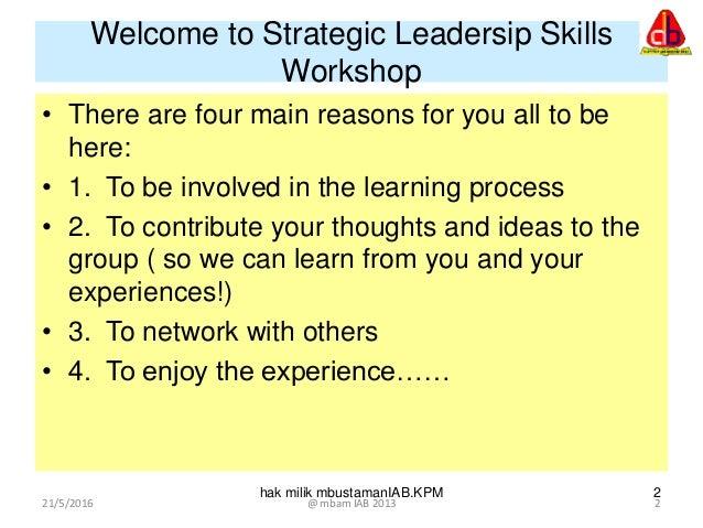 Strategic leadership  Slide 2