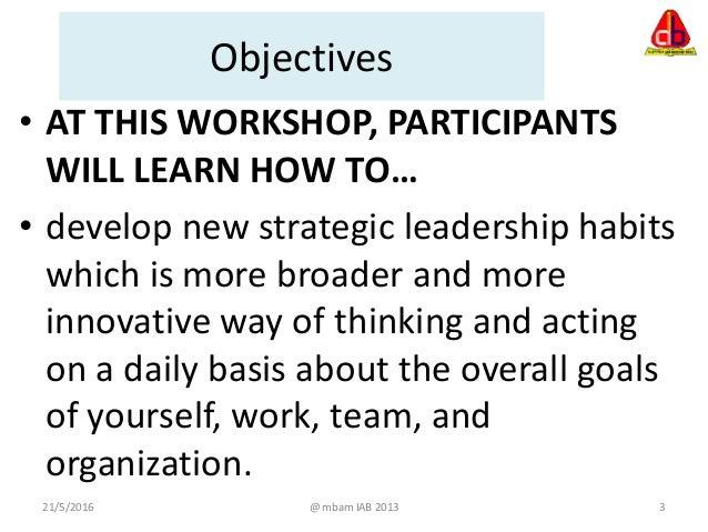 Strategic leadership  Slide 3