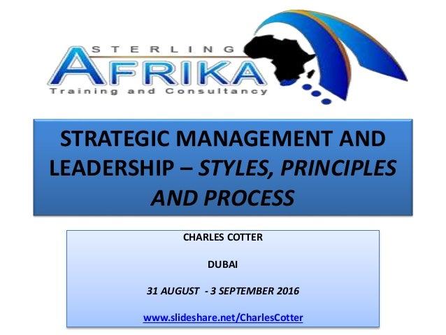 strategic management and leadership