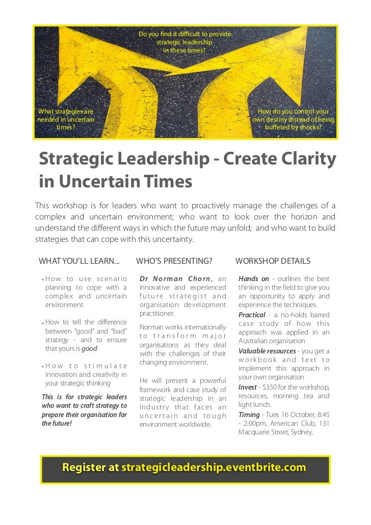 Do you find it difficult to provide                                        strategic leadership                              ...