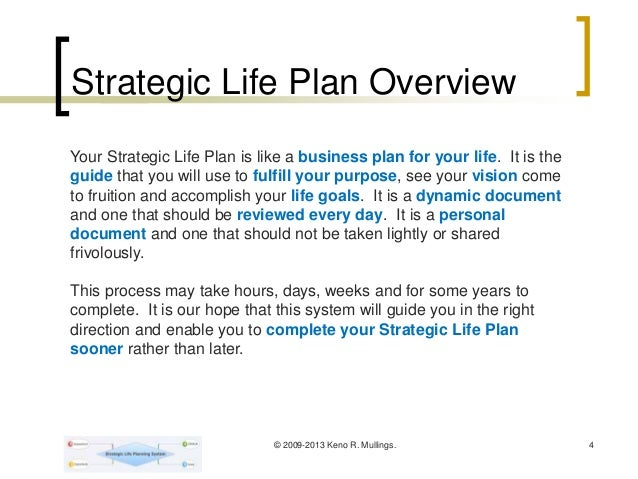 strategic life plan system you only have one life to live plan we