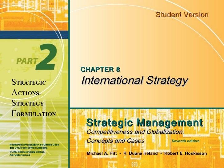 Student Version                                          CHAPTER 8 STRATEGIC                                International ...