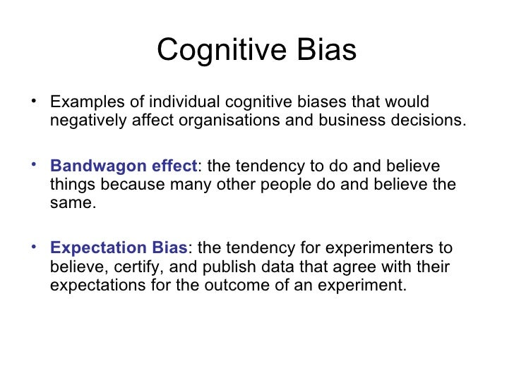 20 Cognitive Biases That Affect Risk Decision Making