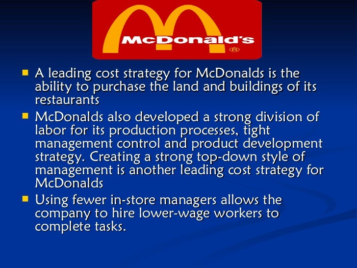 McDonald's generic competitive strategy