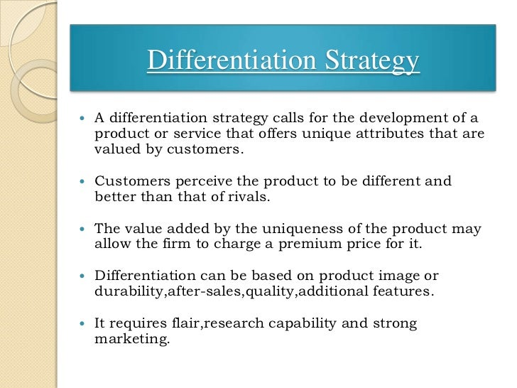service differentiation examples