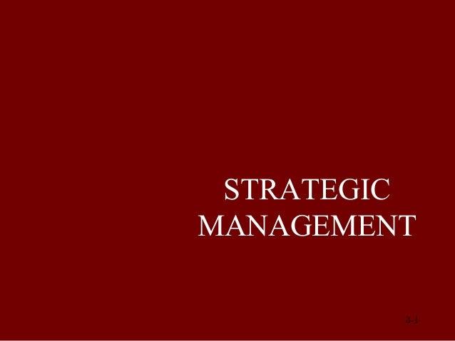 STRATEGIC MANAGEMENT © Prentice Hall, 2002  8-1