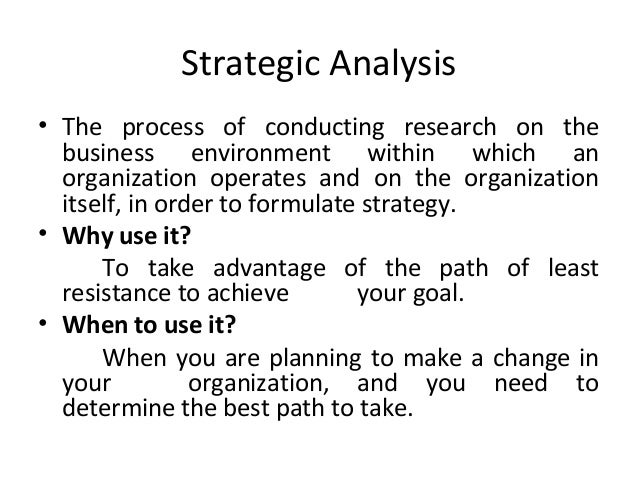 Conduct an environmental analysis using your organization or an organization with which you are fami