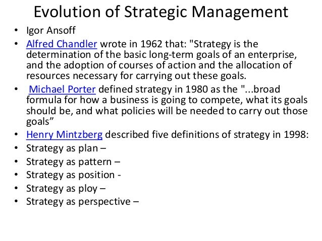 strategic management pdf A strategy for the organization as a whole that is top management's responsibility, there are strategies for each line of business the organization is in there are strategies at the functional area level (manufacturing, marketing, finance, human.