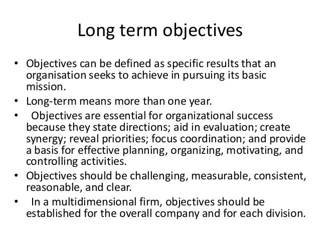 revlon long term objectives How you envision your future is important to employers they can tell a lot about the type of employee you think you are (or are hoping to become) that's why one of the most common interview questions is, what are your long-term goals.