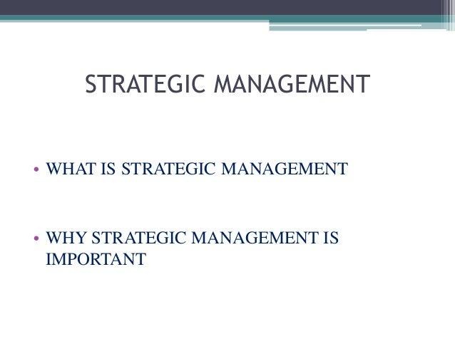 Strategic management Slide 2