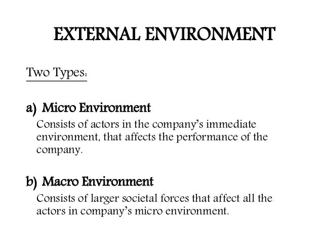 micro and macro environment of pepsi Micro environment issues include working environment, structure, and mission, as well as many smaller details that address small details the japanese business model of kaizen is a helpful way to get everyone's input on many of these details and make the whole structure function better as a result of new ideas and methods.