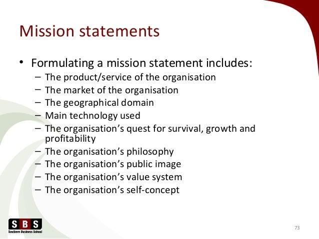 establishing a mission statement
