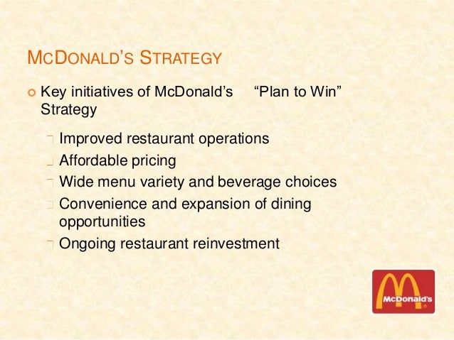 mcdonalds operations management perspective Critical evaluation of mcdonald's performance objectives university's name  a perspective on regional and global  operations management.