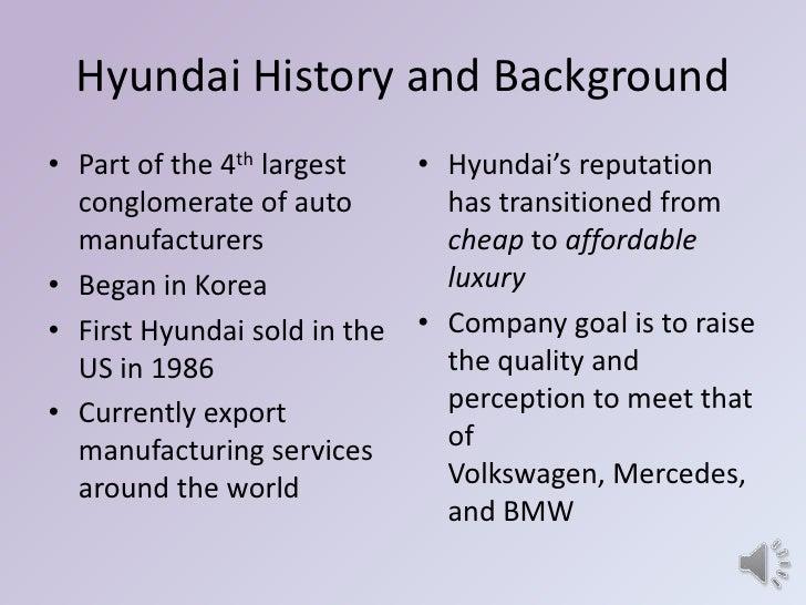 Strategic management final activity ppt 2 for History of hyundai motor company