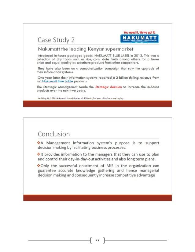 Management Control System; case study | Management Paradise